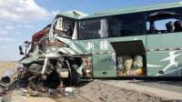 视频: 甘肃瓜州车祸已致15人死 监控记录事故瞬间