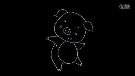 宝宝学画画 儿童简笔画-猪