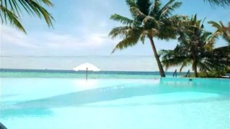 马累蜜月岛的美景
