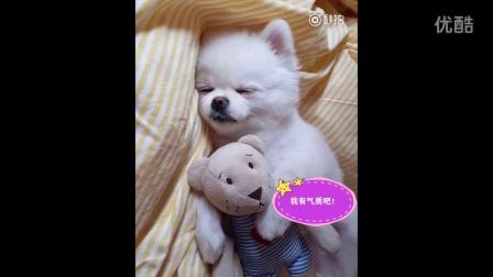 抱着娃娃~慢慢的睡着!!!