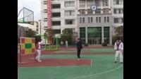初中體育微課視頻-九年級《紙手球單手肩上射門游戲》