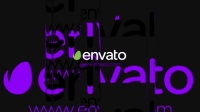 AE模板:信号干扰抖动破损LOGO标志片头 Videohive Dubstep Glitch Logo
