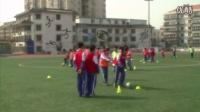 人教版初中體育八年級下冊《足球:正腳背運球》教學視頻